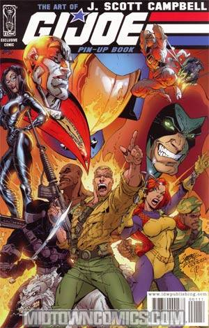GI Joe Vol 4 #1 Incentive J Scott Campbell Pin-Up Book