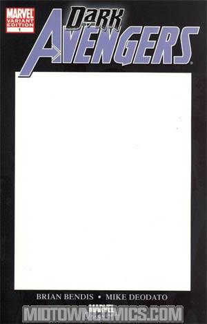 Dark Avengers #1 Blank Cover Edition (Dark Reign Tie-In)