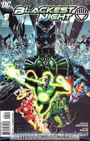 Blackest Night #1 Cover B Incentive Ethan Van Sciver Variant Cover