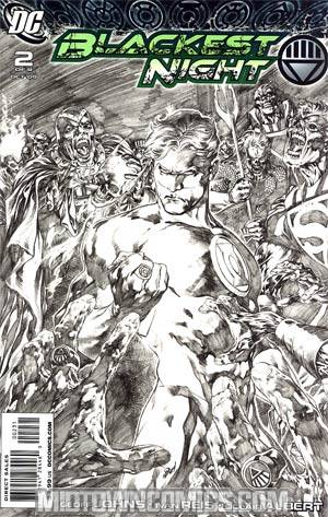 Blackest Night #2 Incentive Ivan Reis Sketch Variant Cover