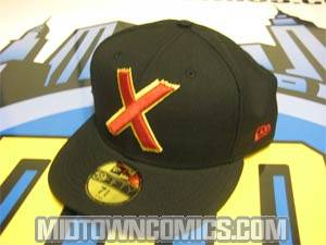 X-Men Classic Symbol Cap - Black/Black Size 7 (55.8 cm / 22 in)