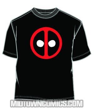 Deadpool Icon Black T-Shirt Large