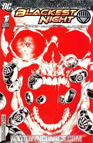 Blackest Night #1 Incentive Retailer Summit Ivan Reis Red Sketch Cover