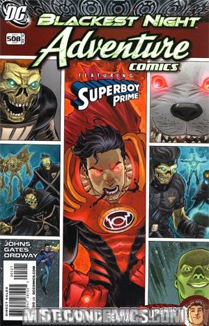 Adventure Comics Vol 2 #5 Cover B Incentive Adventure Comics 508 Francis Manapul Variant Cover (Blackest Night Tie-In)