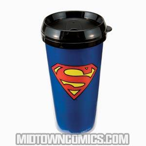 Superman 16-Ounce Plastic Travel Mug