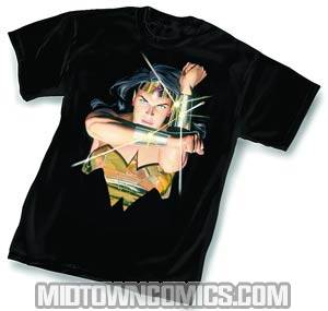 Wonder Woman Deflect By Alex Ross T-Shirt Large