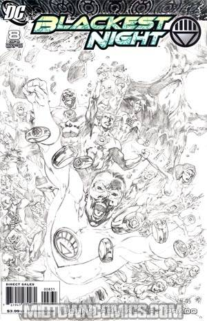 Blackest Night #8 Cover C Incentive Ivan Reis Sketch Cover