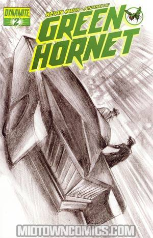 Kevin Smiths Green Hornet #2 Incentive Alex Ross Black & White & Green Cover