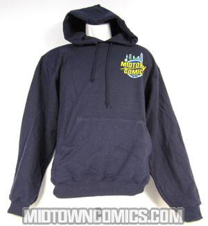 Midtown Comics Logo Navy Hoodie Small
