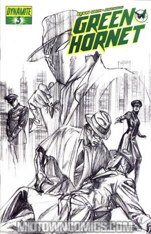 Kevin Smiths Green Hornet #3 Incentive Alex Ross Black & White & Green Cover