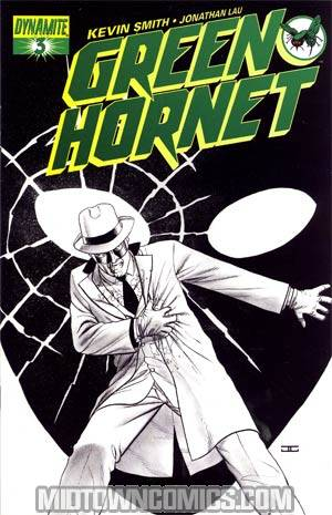 Kevin Smiths Green Hornet #3 Incentive John Cassaday Black & White & Green Cover