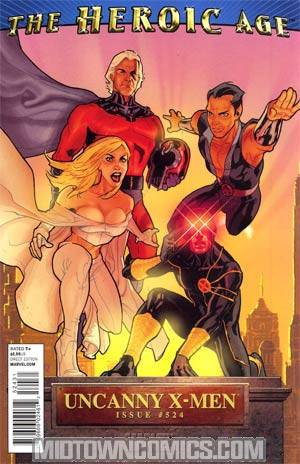 Uncanny X-Men #524 Incentive Stephane Roux Heroic Age Variant Cover (X-Men Second Coming Part 6)