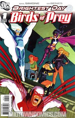 Birds Of Prey Vol 2 #1 Incentive Cliff Chiang Variant Cover (Brightest Day Tie-In)