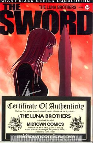 Sword #24 Signed By The Luna Brothers
