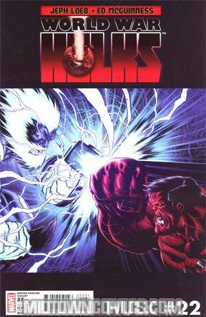 Hulk Vol 2 #22 2nd Ptg Ed McGuinness Variant Cover (World War Hulks Tie-In)