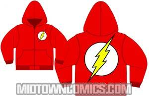 Flash Symbol Previews Exclusive Red Zip-Up Hoodie Large
