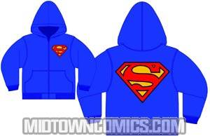 Superman Symbol Previews Exclusive Navy Zip-Up Hoodie Medium
