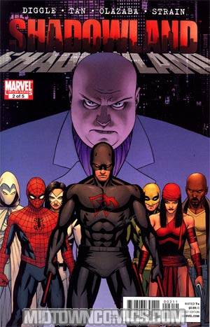Shadowland #2 1st Ptg Regular John Cassaday Black Daredevil Costume Cover