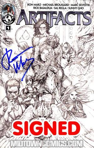 Artifacts #1 Cvr D Incentive Top Cow Jam Sketch Cover Signed By Ron Marz