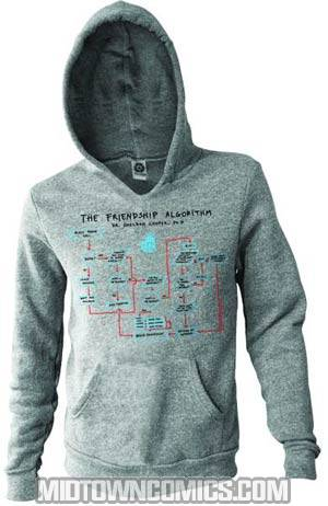 Big Bang Theory Friendship Algorithm Hoodie X-Large