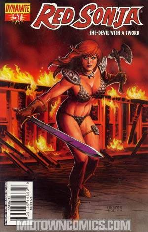 Red Sonja Vol 4 #51 Regular Joseph Michael Linsner Cover