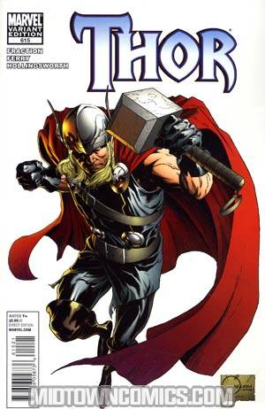 Thor Vol 3 #615 Incentive Joe Quesada Variant Cover (Heroic Age Tie-In)