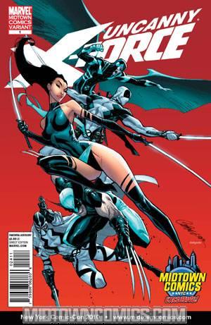 Uncanny X-Force #1 J Scott Campbell Midtown Comics Exclusive Variant Cover