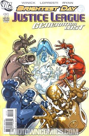 Justice League Generation Lost #11 Incentive Kevin Maguire Variant Cover (Brightest Day Tie-In)