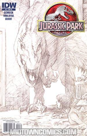 Jurassic Park Redemption #4 Incentive Bernie Wrightson Sketch Cover