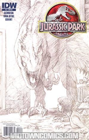 Jurassic Park Redemption #4 Incentive Bernie Wrightson Sketch Cover