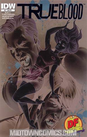 True Blood #2 DF Exclusive J Scott Campbell Negative Art Cover