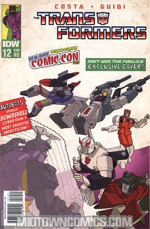 Transformers Vol 2 #12 NYCC 2010 Apocalypse Comics Exclusive X-Men 1 Homage Cover