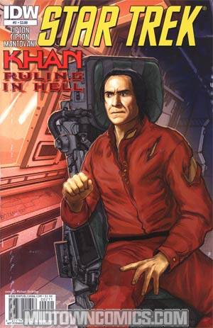 Star Trek Khan Ruling In Hell #2 Regular Michael Stribling Cover