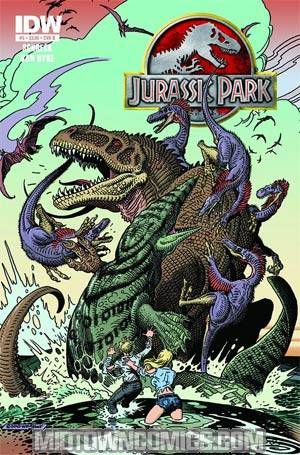 Jurassic Park Redemption #5 Incentive William Stout Print