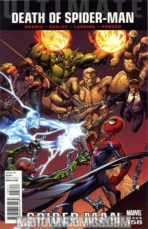 Ultimate Comics Spider-Man #158 Regular Mark Bagley Cover (Death Of Spider-Man Part 6)