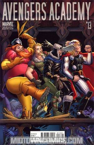 Avengers Academy #13 Incentive Thor Goes Hollywood Variant Cover