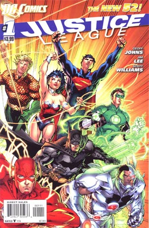 Justice League Vol 2 #1 1st Ptg Regular Jim Lee Cover