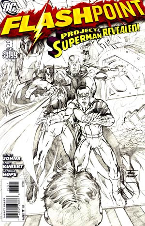 Flashpoint #3 Incentive Andy Kubert Sketch Cover
