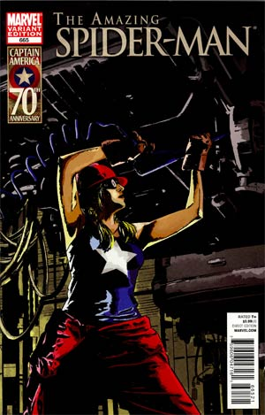 Amazing Spider-Man Vol 2 #665 Cover B Incentive I Am Captain America Variant Cover