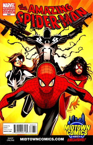 Amazing Spider-Man Vol 2 #666 Midtown Exclusive Greg Land Variant Cover (Spider-Island Prelude)