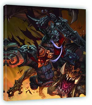 Darksiders Battle Fine Art Canvas Giclee Small