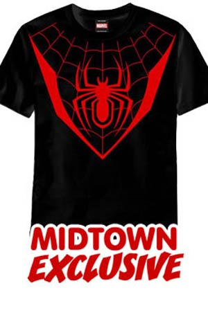 Ultimate Spider-Man Symbol Fall Out 4 Midtown Exclusive T-Shirt Large