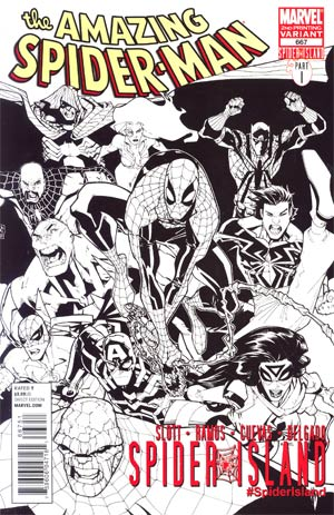 Amazing Spider-Man Vol 2 #667 2nd Ptg Humberto Ramos Hero Sketch Cover (Spider-Island Tie-In)
