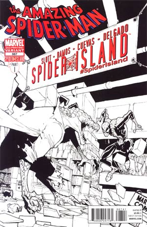 Amazing Spider-Man Vol 2 #667 2nd Ptg Humberto Ramos Lizard Sketch Cover (Spider-Island Tie-In)