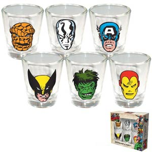 Marvel Shotglass 6-Piece Shot Glass Set