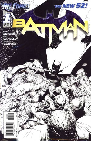 Batman Vol 2 #1 Incentive Greg Capullo Sketch Cover