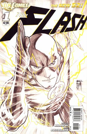 Flash Vol 4 #1 Incentive Francis Manapul Sketch Cover