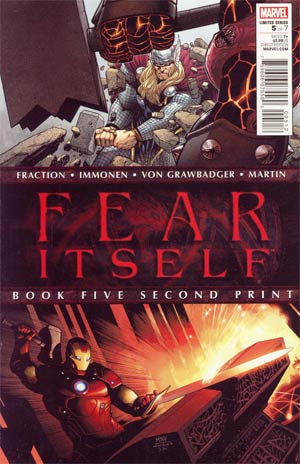 Fear Itself #5 2nd Ptg Steve McNiven Variant Cover