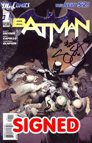 Batman Vol 2 #1 1st Ptg Regular Greg Capullo Cover Signed By Scott Snyder