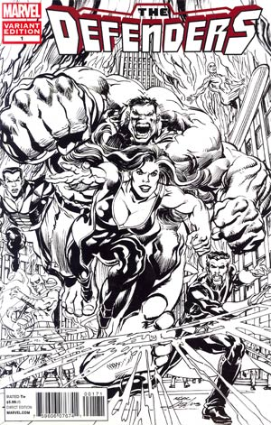 Defenders Vol 4 #1 Incentive Neal Adams Sketch Cover (Shattered Heroes Tie-In)